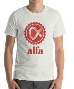 Alfa Bella+Canvas 3001 Unisex T-Shirt Front Mens Ash