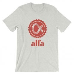 Alfa Front Wrinkled Ash Bella+Canvas 3001 Unisex T-Shirt