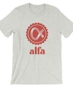 Alfa Front Wrinkled Ash Bella+Canvas 3001 Unisex T-Shirt