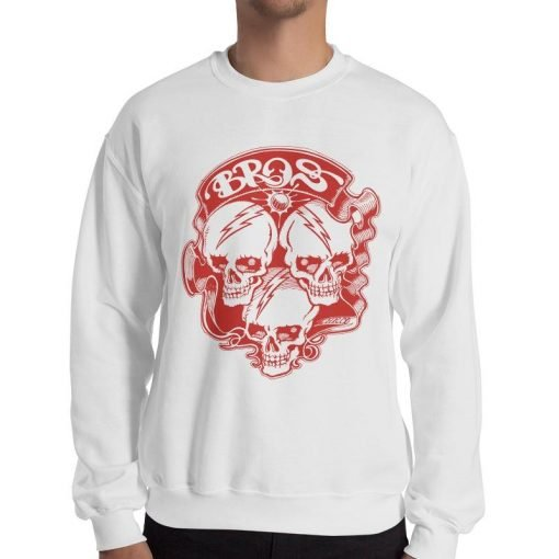 Bros 18000 Heavy Blend Crewneck Sweatshirt White Front Men