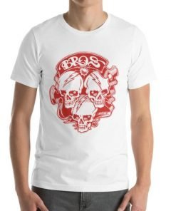 Bros Bella+Canvas 3001 Unisex T-Shirt Front Mens White