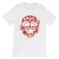 Bros Bella+Canvas 3001 Unisex T-Shirt Front Wrinkled White