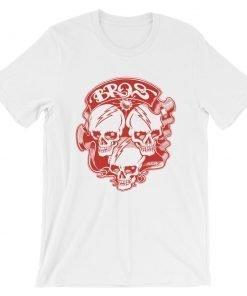 Bros Bella+Canvas 3001 Unisex T-Shirt Front Wrinkled White