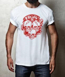 Bros Bella+Canvas 3001 Unisex T-Shirt Front Mens White