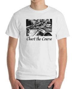 Chart The Course Gildan 2000 Ultra Cotton T-Shirt Front Mens White