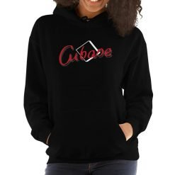 Cubase Gildan 18500 Unisex Heavy Blend Hooded Sweatshirt Front Womens Black