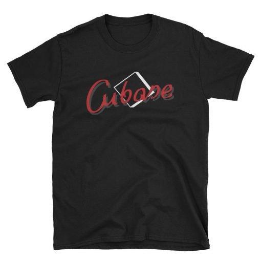 Cubase Gildan 64000 Unisex T-Shirt Front Flat Black