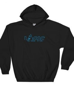 Emagic Logic Gildan 18500 Heavy Blend Hooded Sweatshirt Front Flat Black