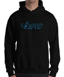 Emagic Logic Gildan 18500 Heavy Blend Hooded Sweatshirt Front Mens Black