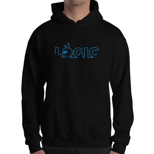 Emagic Logic Gildan 18500 Heavy Blend Hooded Sweatshirt Front Mens Black