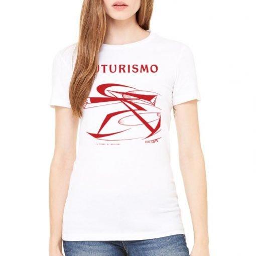 Futurismo Il Pugno di Boccioni Bella+Canvas 6004 Ladies T-Shirt Womens Flat White