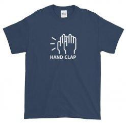 Hand Clap Gildan 2000 Ultra Cotton T-Shirt Front Flat Blue Dusk