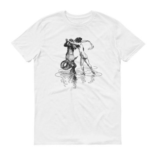 Heinrich Kley Anvil 980 Men T-Shirt Front Flat White