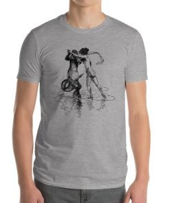 Heinrich Kley Anvil 980 Men T-Shirt Front Mens Heather Grey