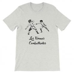 Les Femmes Combattentes Front Flat Ash Bella+Canvas 3001 Unisex T-Shirt