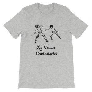 Les Femmes Combattentes Front Flat Athletic Heather Bella+Canvas 3001 Unisex T-Shirt