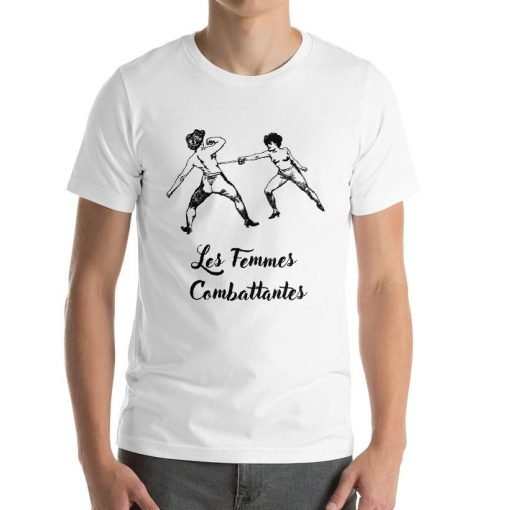 Les Femmes Combattentes Front Mens White Bella+Canvas 3001 White Unisex T-Shirt