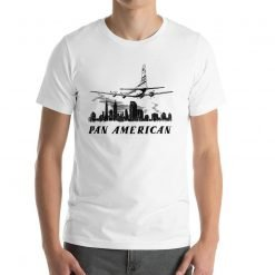 Pan American Bella+Canvas 3001 Unisex T-Shirt Front Mens White by Gamiani.com