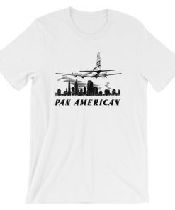Pan American Bella+Canvas 3001 Unisex T-Shirt Front Wrinkled White