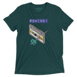 Rewind! Bella+Canvas 4313 Front Emerald Triblend