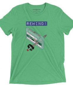 Rewind! Bella+Canvas 4313 Front Green Triblend
