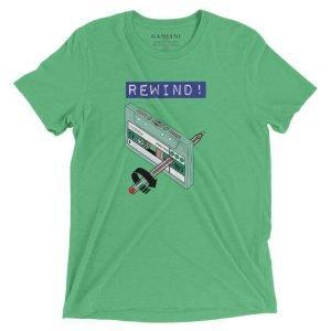 Rewind! Bella+Canvas 4313 Front Green Triblend