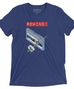 Rewind! Bella+Canvas 4313 Front Navy Triblend