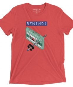 Rewind! Bella+Canvas 4313 Front Red Triblend