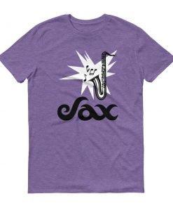 Sax Anvil 980 Lightweight T-Shirt Front Flat Heather Purple