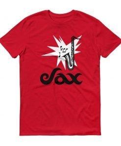 Sax Anvil 980 Lightweight T-Shirt Front Flat Red