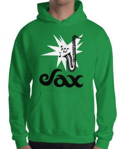 Sax Gildan 18500 Heavy Blend Hooded Sweatshirt Front Mens Irish Green
