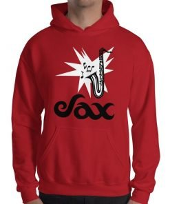 Sax Gildan 18500 Heavy Blend Hooded Sweatshirt Front Mens Red