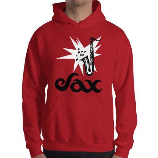Sax Gildan 18500 Heavy Blend Hooded Sweatshirt Front Mens Red