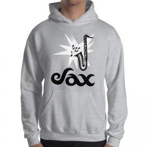 Sax Gildan 18500 Heavy Blend Hooded Sweatshirt Front Mens Sport Grey