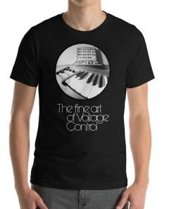 The fine art of Voltage Control Bella Canvas 3001 Unisex T-Shirt Front Mens Black