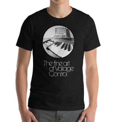 The fine art of Voltage Control Bella Canvas 3001 Unisex T-Shirt Front Mens Black