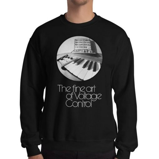 The fine art of Voltage Control Gildan 18000 Heavy Blend Crewneck Sweatshirt Front Man Black