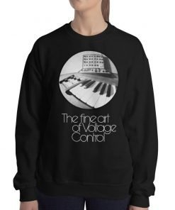 The fine art of Voltage Control Gildan 18000 Heavy Blend Crewneck Sweatshirt Front Woman Black