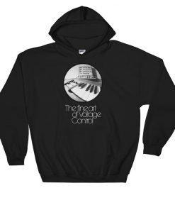 The fine art of Voltage Control Gildan 18500 Heavy Blend Hooded Sweatshirt Front Flat Black