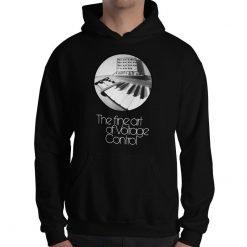 The fine art of Voltage Control Gildan 18500 Heavy Blend Hooded Sweatshirt Front Mens Black