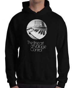 The fine art of Voltage Control Gildan 18500 Heavy Blend Hooded Sweatshirt Front Mens Black