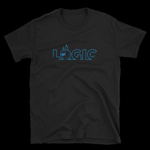 Emagic-Logic_Gildan-64000_Unisex_Softstyle_T-Shirt_Front_Flat_Black