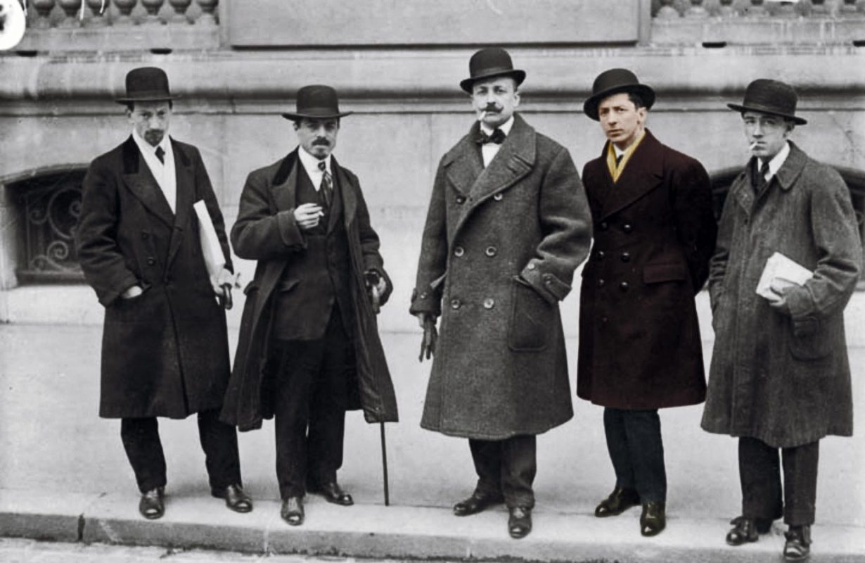 The famous photo of the italian futurists in Paris in 1912.