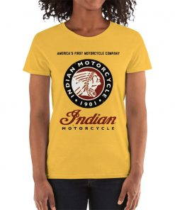 """Indian Motorcycle"" T-Shirt for women by Gamiani.com."