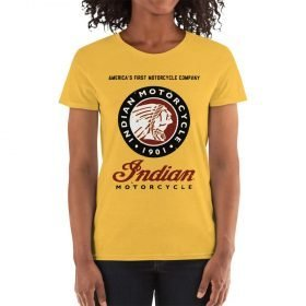 """""""Indian Motorcycle"""" T-Shirt for women by Gamiani.com."""
