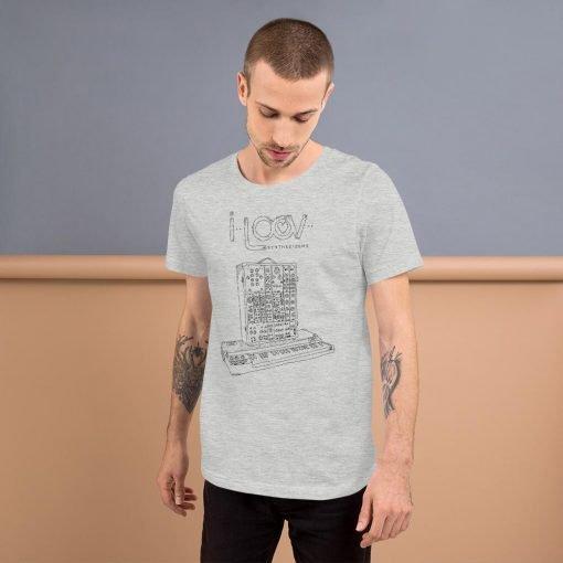 """I Loov Synthesizers"" Moog Modular System 15 T-Shirt"