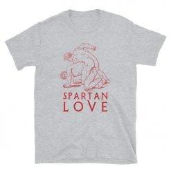 Spartan Love Gildan64000 Unisex T-Shirt Front Sport Grey
