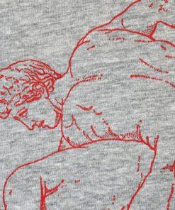 Spartan Love Gildan64000 Unisex T-Shirt Detail