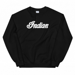 Indian Motorcycle Retro Black Sweatshirt by Gamiani.com