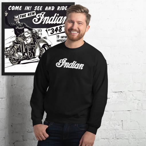 Indian Retro black Sweatshirt by Gamiani.com